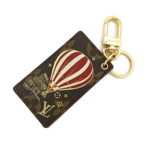100% Auth LOUIS VUITTON Key Holder/ Key Charm